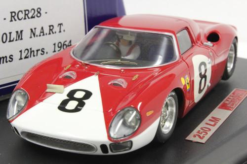 RCR28 Racer Ferrari 250 LM N.A.R.T. Reimss 12H 1964 L. Bandini/J. Surtees 1:32 Slot Car