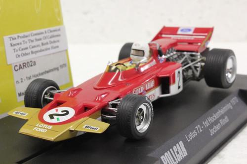 CAR02A Policar Lotus 72 Hockenheimring 1970, #72 1:32 Slot Car