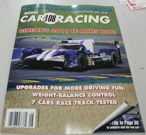 MCRM108 Model Car Racing Magazine #108 - November/December 2019 1:32 Slot Car Magazine