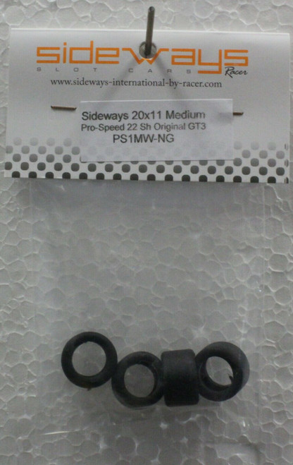 PS1MW-NG Racer Sideways ProSpeed Line Evo GT3 20 x 11mm Medium Tires (4) 1:32 Slot Part