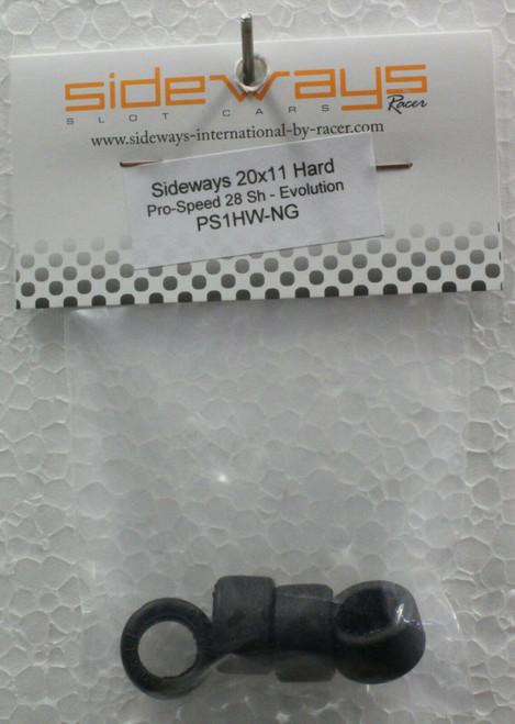 PS1HW-NG Racer Sideways ProSpeed Hard Rubber Tires 20x11mm 28 Shore 1:32 Slot Car Part