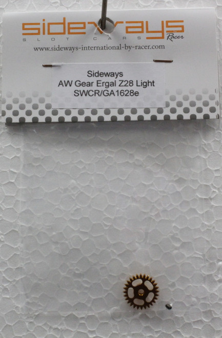 SWCR/GA1628e Racer Sideways Ergal Angelwinder Gear 28-tooth Light 1:32 Slot Car Part