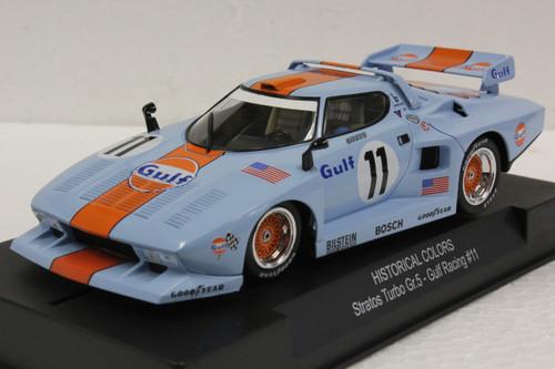 SWHC07B Racer Sideways Lancia Stratos Turbo Gr. 5 Gulf Racing, #11 1:32 Slot Car