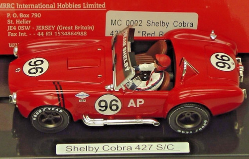 MC0002 MRRC Shelby Cobra 427 S/C Red Racing, #96 1:32 Slot Car