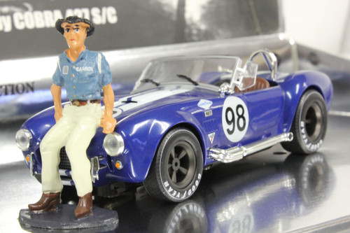 MC0001 MRRC Shelby Cobra 427 Racing Legends with Carroll Shelby Figure, #98 1:32 Slot Car