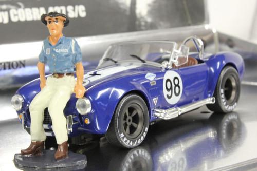 MC0001 MRRC Shelby Cobra 427 Racing Legends with Carroll Shelby Figure, #98 1:32 Slot Car