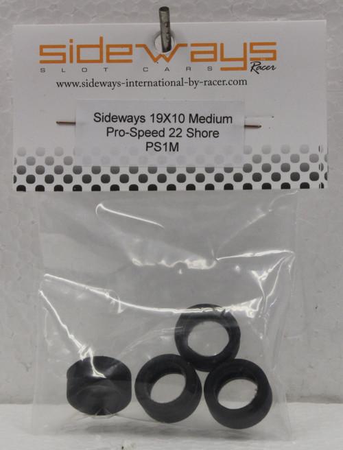 PS1M Racer Sideways Pro-Speed Medium Tires 19x10mm 1:32 Slot Car Part