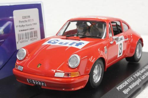 036108 Fly Porsche 911 S 1st Place Rally Suecia 1968, #8 1:32 Slot Car