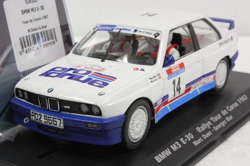 038102 Fly BMW M3 E-30 Rallye Tour De Corse 1987, #14 1:32 Slot Car