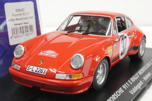 036107 Fly Porsche 911 S Rally Monte Carlo 1969 #37 1:32 Slot Car