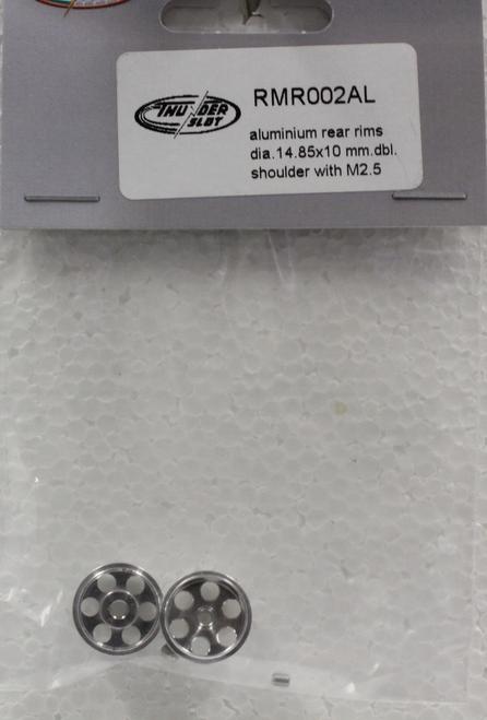 RMR002AL Thunderslot Aluminum Double Shoulder Rims 14.85x10mm 1:32 Slot Car Part