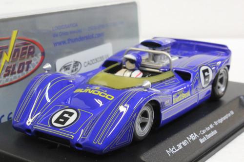 CA00303S/W Thunderslot McLaren M6A Can-Am Bridgehampton 1968 Sunoco, #6 1:32 Slot Car