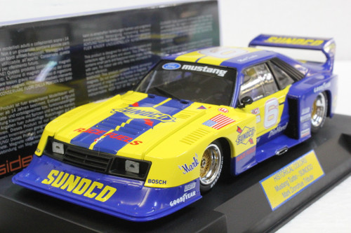 SWHC08 Racer Sideways Ford Mustang Turbo Sunoco Racing Historical Colors, #6 1:32 Slot Car
