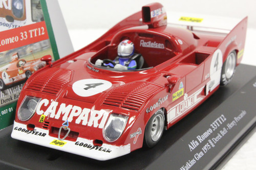 00701 SRC Alfa Romeo 33T12 6H Watkins Glen 1975 Derek Bell/Henry Pescarolo 1:32 Slot Car