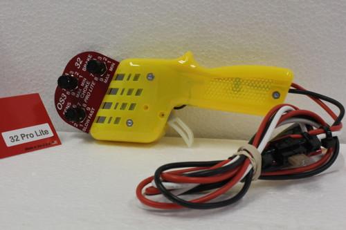 32PROLITE-Yellow OS3 32 Pro Lite with Brake Sensitivity and Choke Control (Yellow) 1:32 Slot Car