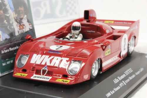 00702 SRC Alfa Romeo 33T12 1000 Km Monza 1975 Arturo Merzario/Jacques Laffite 1:32 Slot Car