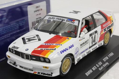 038101 Fly BMW M3 E-30 DTM 1988 Kurt Konig, #14 1:32 Slot Car
