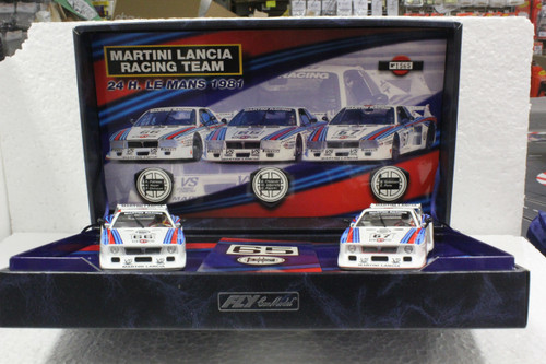 TEAM01/96001 GB Track by Fly Lancia Beta Montecarlo Martini Racing Twin-Pack 1:32 Slot Car