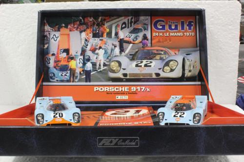 TEAM03/96004 Fly Porsche 917K Team Gulf Twin-Pack 1:32 Slot Car