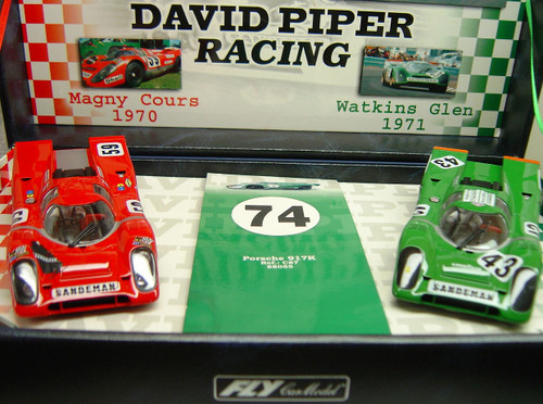 TEAM04/96010 GB Track by Fly Porsche 917K Team David Piper Twin-Pack 1:32 Slot Car