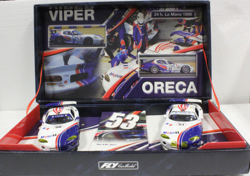 TEAM07/96040 Fly Chrysler/Dodge Viper GTS-R Team Oreca Twin-Pack 1:32 Slot Car