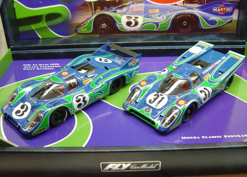 TEAM12/96074 Fly Porsche 917K/917LH Martini 'Psychedelic' Team Twin-Pack 1:32 Slot Car