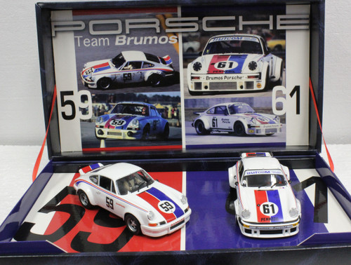 TEAM13/96081 Fly Porsche 911 & 934 Team Brumos Twin-Pack 1:32 Slot Car