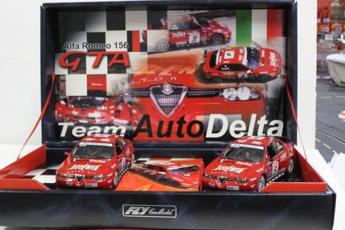 TEAM10/96052 Fly Alfa Romeo 156 GTA FIA ETCC 2003 Team Auto Delta Twin-Pack 1:32 Slot Car