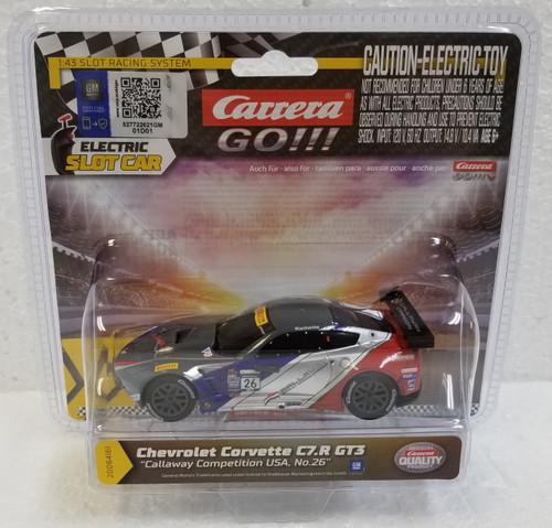 64161 Carrera GO!!! Chevrolet Corvette C7.R GT3 Callaway USA, #26 1:43 Slot Car