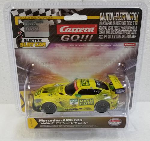 64169 Carrera GO!!! Mercedes-AMG GT3 MANN-FILTER Team HTP, #47 1:43 Slot Car