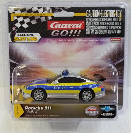 "64174 Carrera GO!!! Porsche 911 ""Polizei"" Police 1:43 Slot Car"