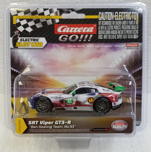 64160 Carrera GO!!! 2015 SRT Viper Ben Keating Team, #93 1:43 Slot Car