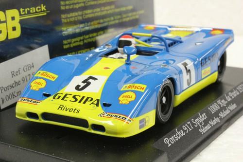 GB4 GB Track by Fly Porsche 917 Spyder 1000km of Paris 1971, #5 1:32 Slot Car