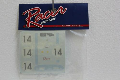 RCRSPP/C3 Racer Decals For Ferrari 330 P / RCR35 1:32 Slot Car Part