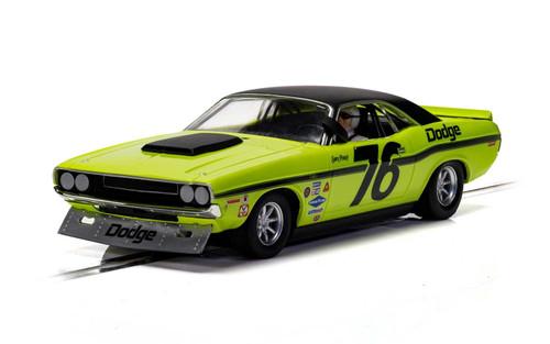 C4164 Scalextric Dodge Challenger - Sam Posey, #76 1:32 Slot Car *DPR*