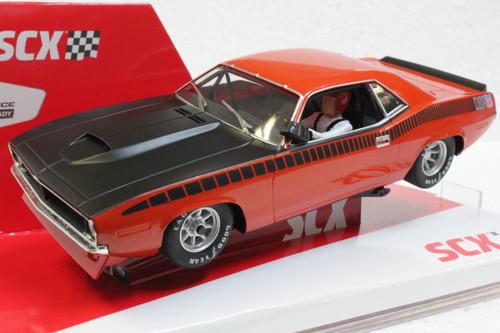 U10365X300-O SCX Plymouth Trans Am AAR CUDA Vitamin C Orange 1970 Limited Edition 1:32 Slot Car