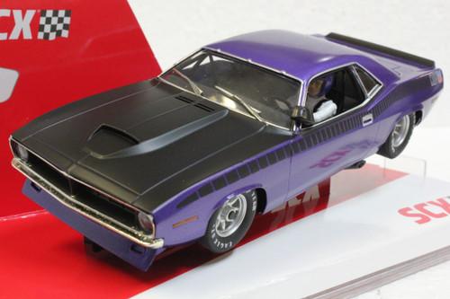 U10365X300-PU SCX Plymouth Trans Am AAR CUDA In Violet Metallic 1970 Limited Edition 1:32 Slot Car