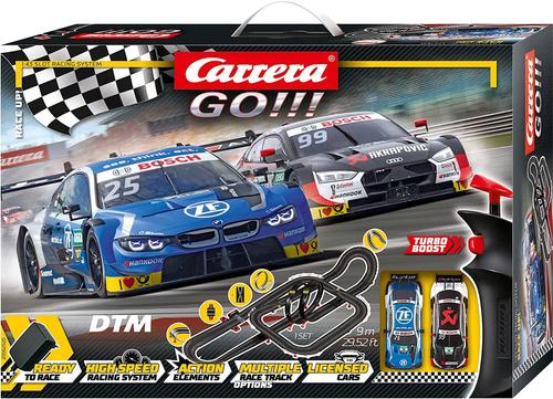 62520 Carrera GO!!! Audi BMW DTM Race Up! 1:43 Slot Car Set