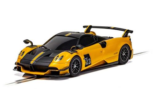 C4212 Scalextric Pagani Huayra BC Roadster Yellow, #23 1:32 Slot Car DPR
