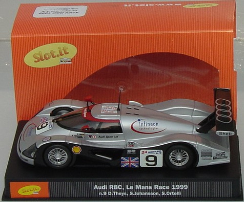 SICA01E Slot.it Audi R8C Le Mans Race 1999 #9, 1:32 Slot Cart Car