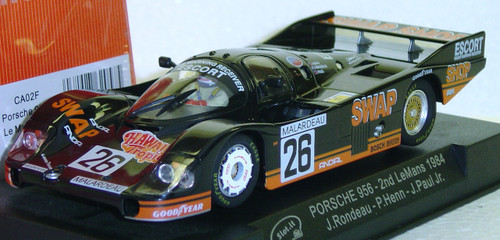 SICA02F Slot.it Porsche 956 2nd Le Mans 1984 #26, J. Rondeau/P. Henn/J. Paul Jr. 1:32 Slot Car