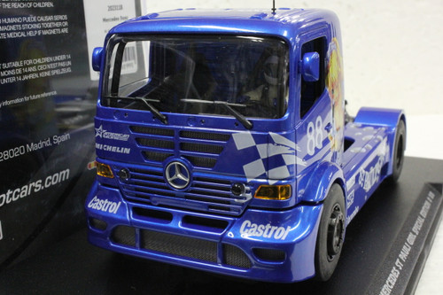 202311B Fly Mercedes Benz Truck St Pauli Girl Special Edition Anime Blue #88 1/32 Slot Car