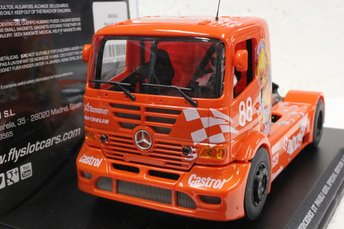202311C Fly Mercedes Benz Truck St Pauli Girl Special Edition Anime Orange #88, 1:32 Slot Car