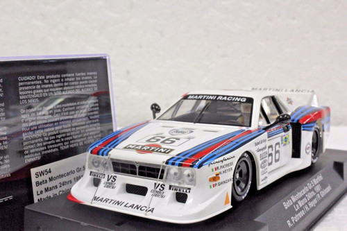 SW54 Racer Sideways Beta Montecarlo Group 5 Martini Le Mans 24hrs 1981 #66, R. Patrese/H. Heyer/P. Ghinzani 1:32 Slot Car