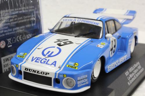 SW38 Racer Sideways Porsche 935 Vegla Racing Le Mans 24hrs 1980 #49, H. Grohs/D. Schornstein 1:32 Slot Car