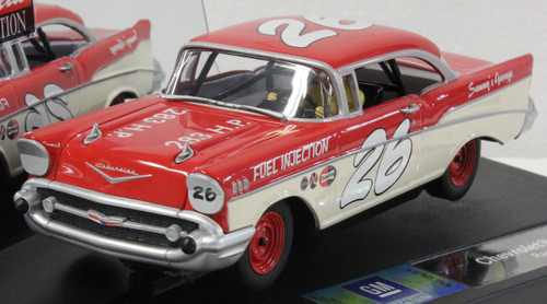 27376 Carrera Evolution 1957 Chevrolet Bel Air Coupe Race II #26, 1:32 Slot Car