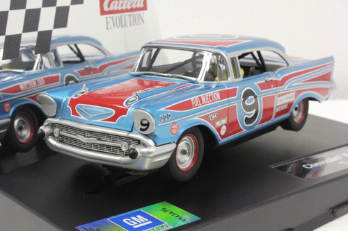 27526 Carrera Evolution 1957 Chevrolet Bel Air Oval Racer #9, 1:32 Slot Car