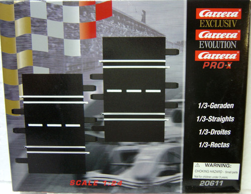 20611 Carrera 1/3 straight track (2) for 1/24 and 1/32 scale tracks
