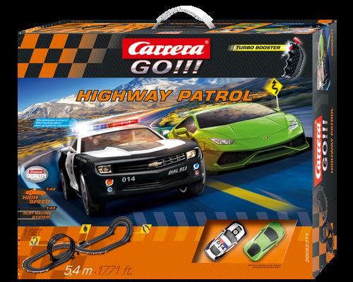 62371 Carrera GO!!! 1/43 Highway Patrol Slot Car Racing Set 1:43 Slot Cars
