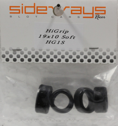 HG1S Racer Sideways Hi-Grip Soft Rubber Tires 19 x 10mm